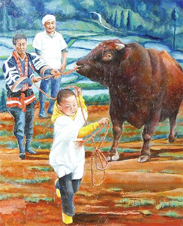 牛がつなぐ三世代