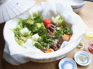野菜たっぷり洋風蒸し鍋