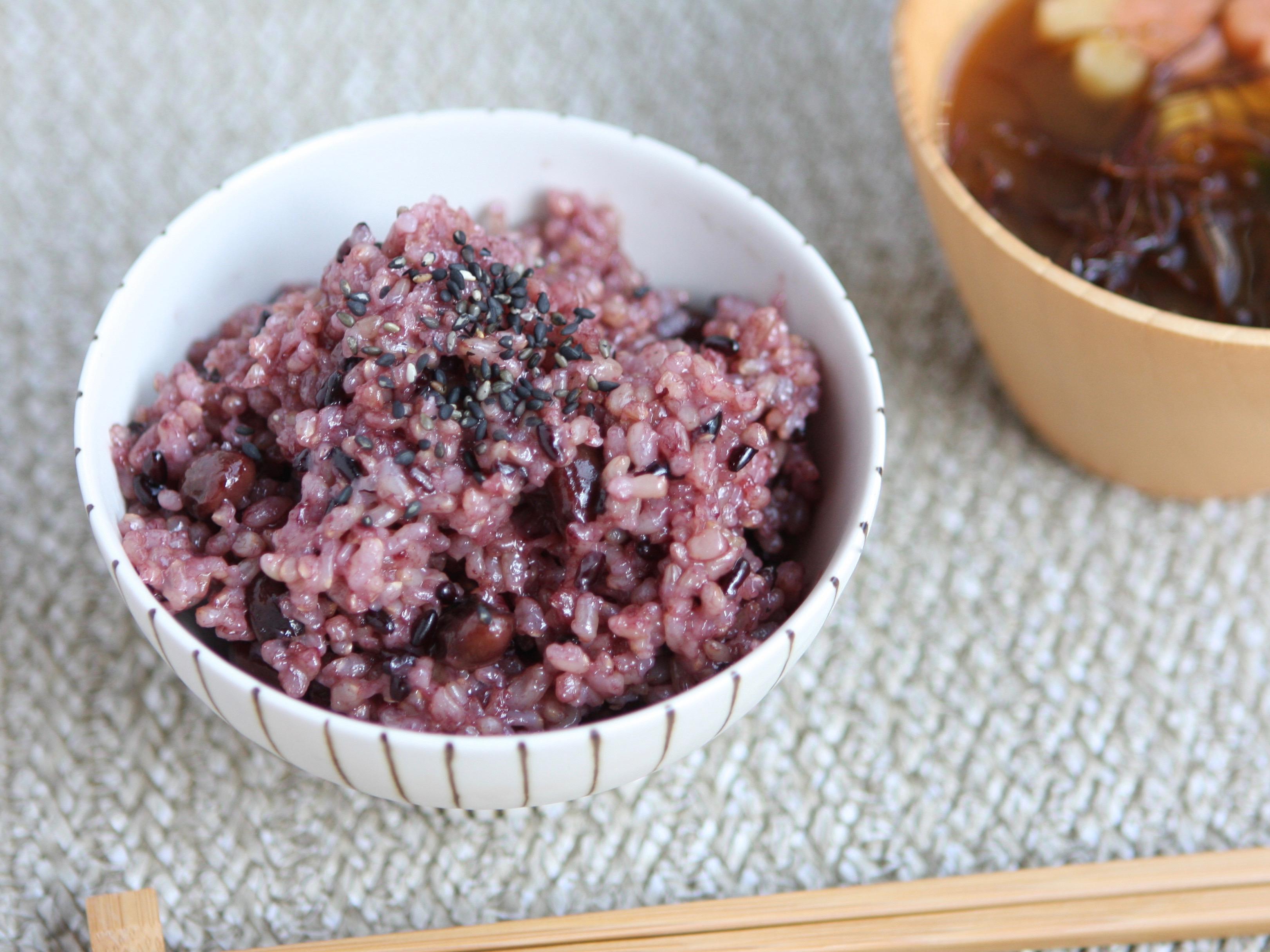 黒米と黒豆入り玄米ごはん